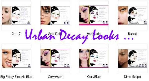 Product picture Urban Decay , Hard Candy and More .. Looks , Face Charts , Tip and Tricks